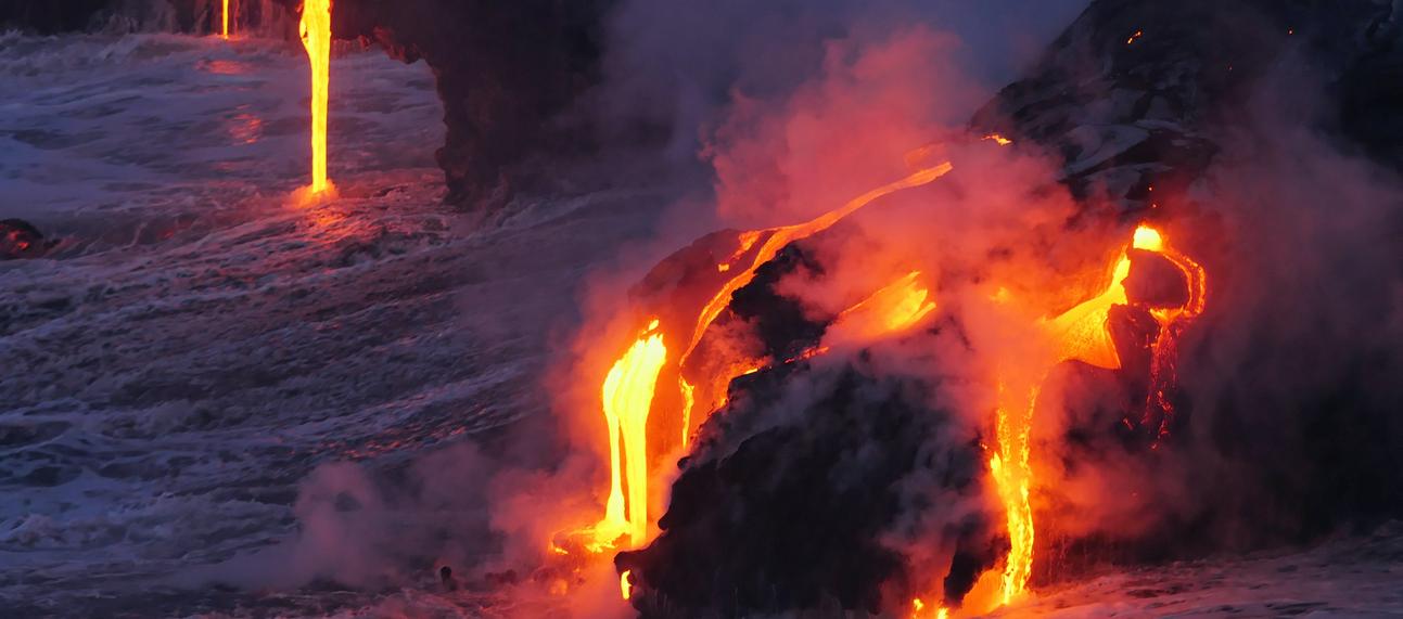 lava into the ocean